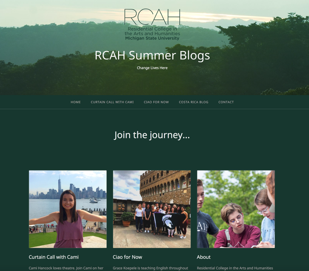 RCAH Summer Blogs