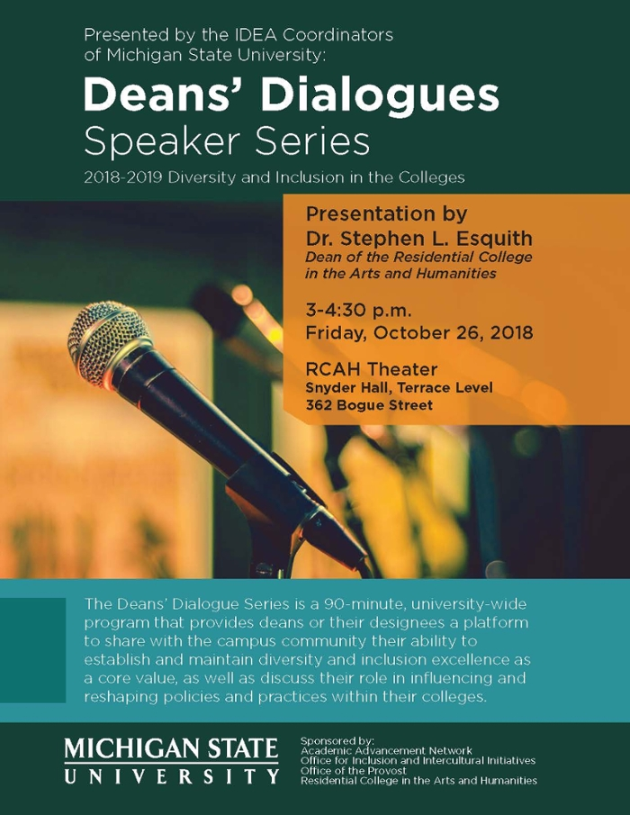 Diversity and Inclusion Subject of Deans' Dialogues Discussion November 2