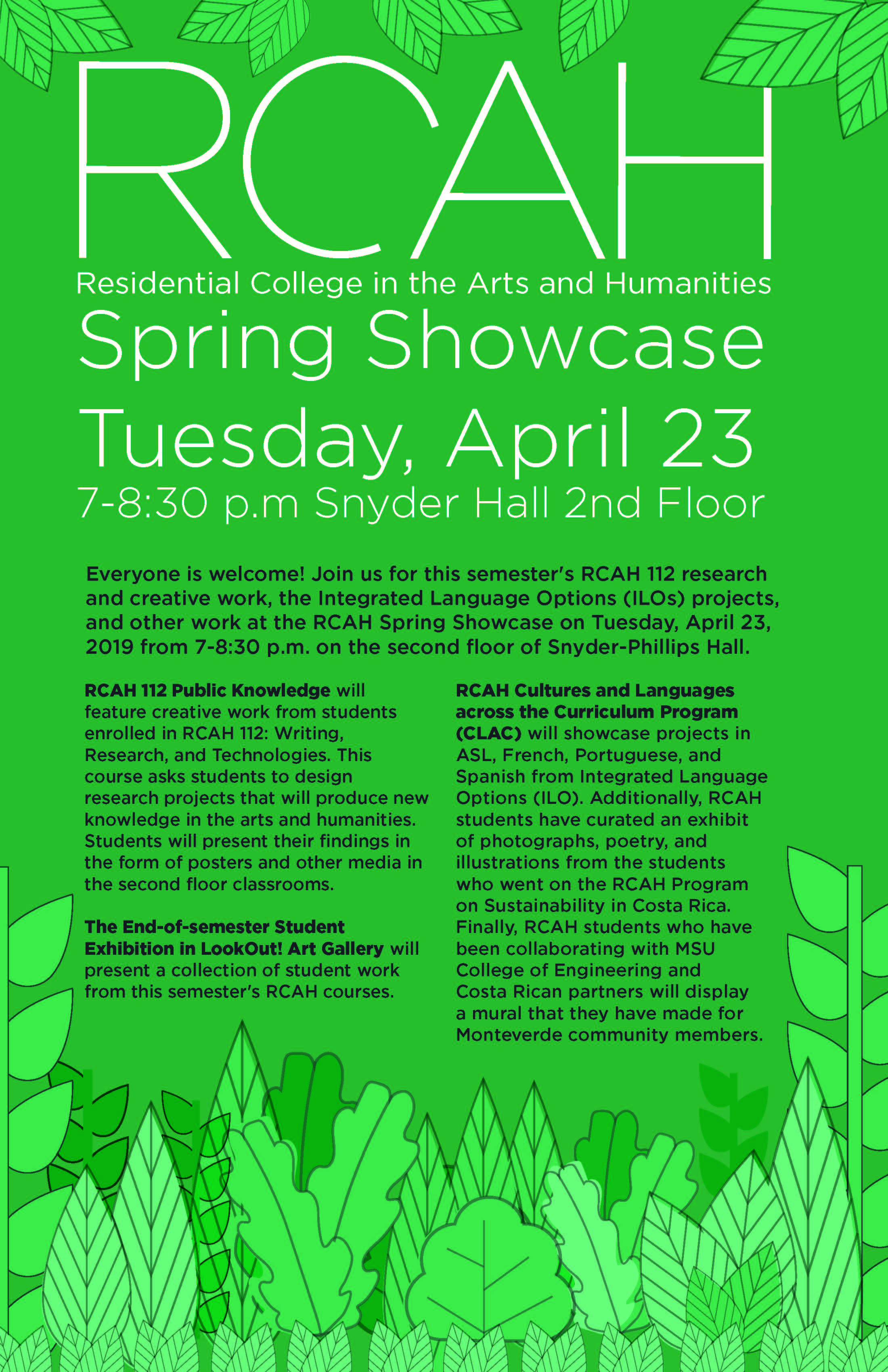 Celebrating Student Work: The RCAH Spring Showcase April 23